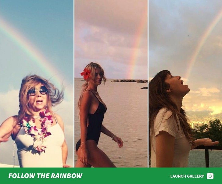Celebs At The End Of The Rainbow