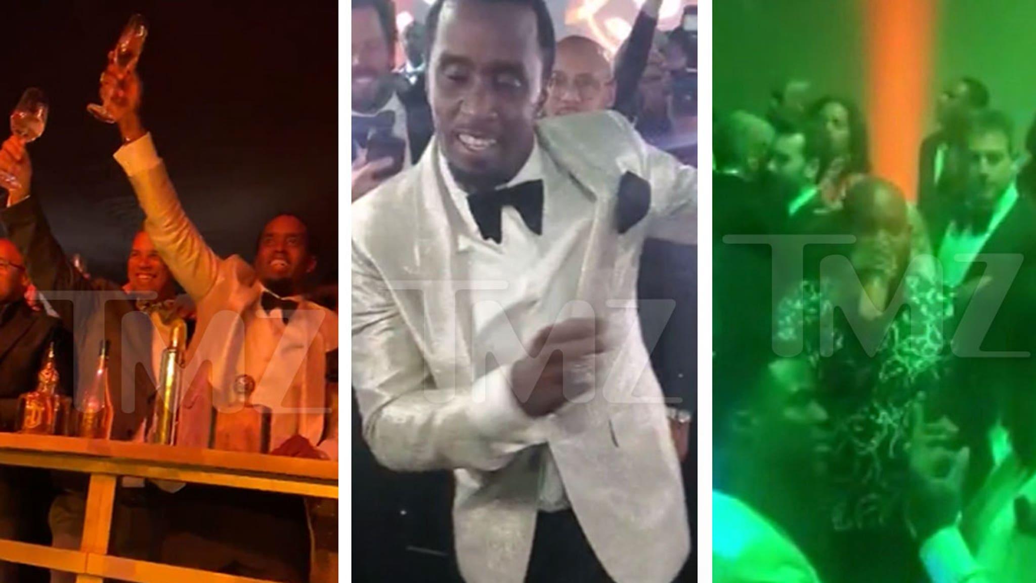 Diddy Celebrates 50th Birthday with Kim, Kanye, Jay-Z, Beyonce