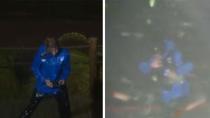 Weather Channel Reporters Battered by Hurricane Laura in Louisiana