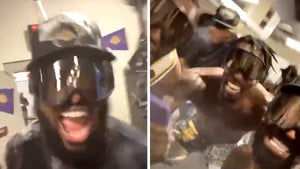 LeBron James Doused in Booze In Crazy Locker Room Party, FaceTimes Mom