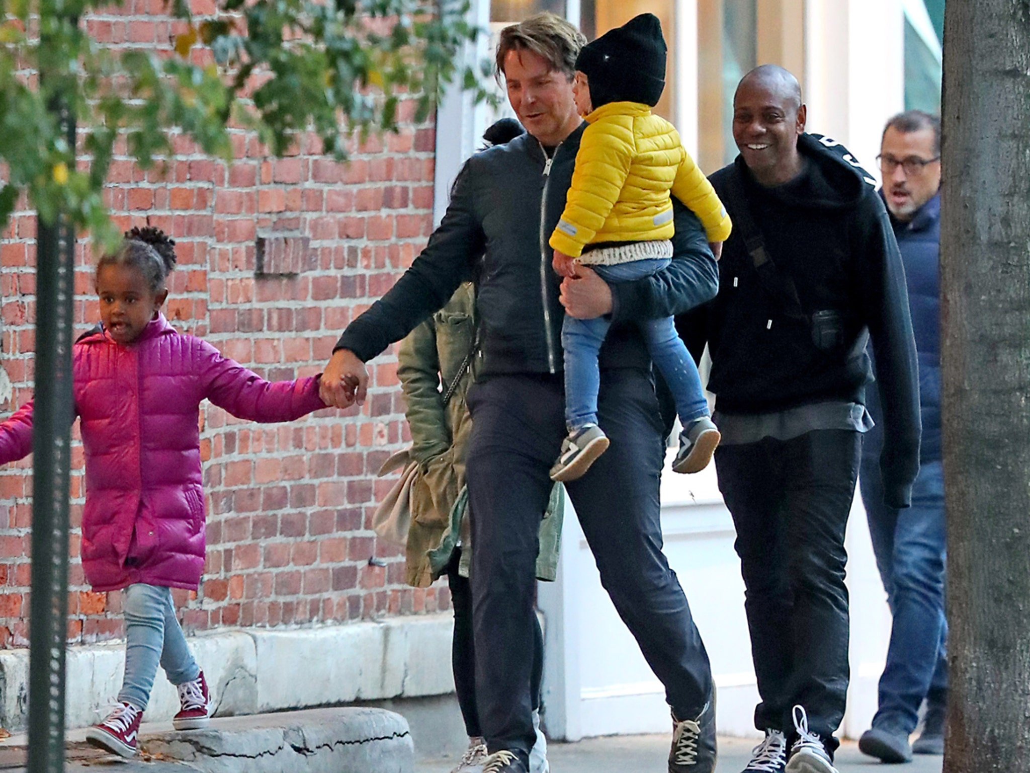 bradley cooper hangs out with dave chappelle in nyc bradley cooper hangs out with dave