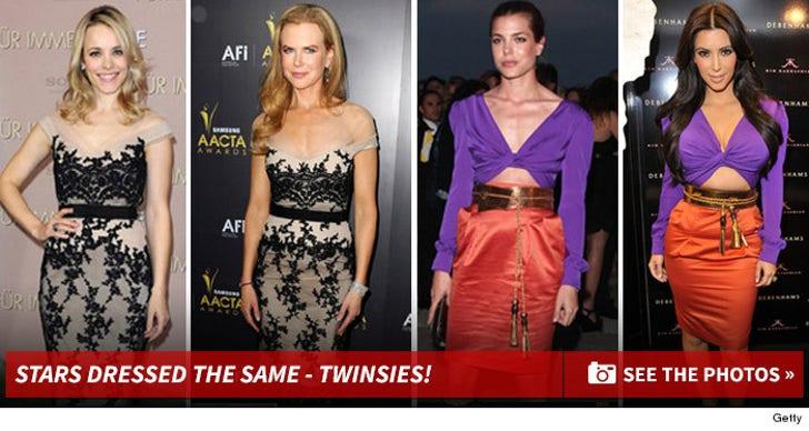 Stars Dressed the Same -- Twinsies!