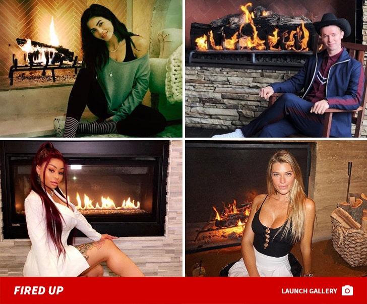 Hot Stars by a Fire ... Lit!