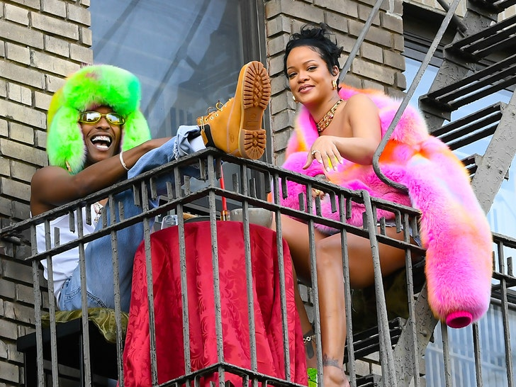 Rihanna and A$AP Rocky film music video in New York CIty