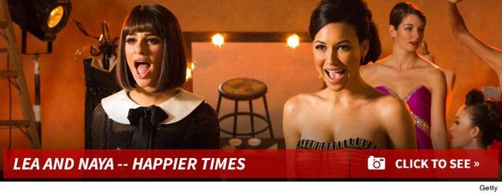 Naya Rivera and Lea Michele -- Happier Times