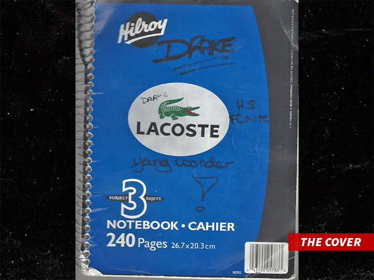 Drake's Old Notebook Showing His Teenage Love for Lacoste Up