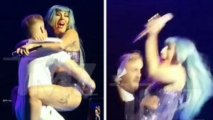Lady Gaga Falls Off Stage with Fan in Vegas, He Responds to Haters