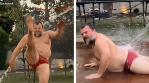 Jack Black Pulls Off Hilarious 'WAP' Challenge in Red Speedo