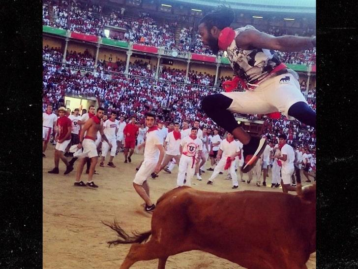 Josh Norman Says He's 'Hero' In Spain for Jumping Bull