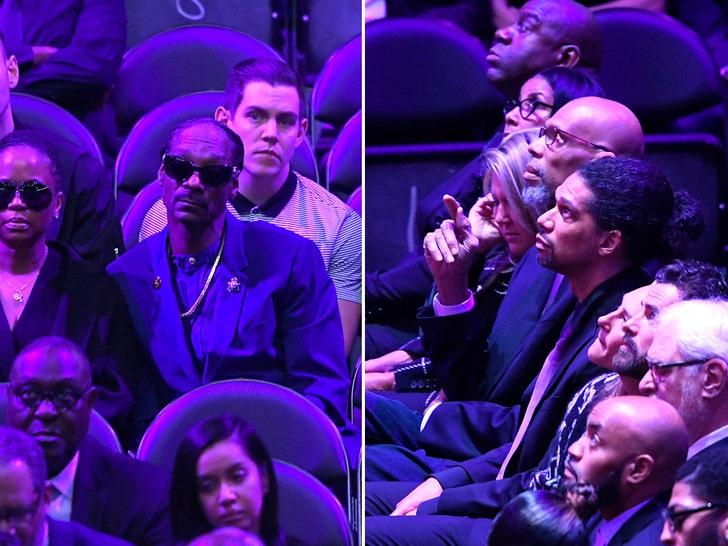 Stars At Kobe and Gigi Bryant Memorial at Staples Center
