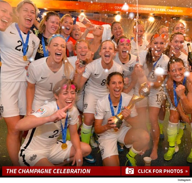 2015 Woman's World Cup Winners -- The Champagne Celebration