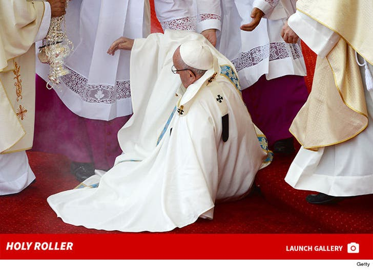Pope Francis Falls in Poland -- Holy Roller