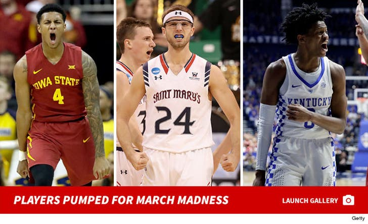 Players Pumped for March Madness