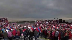 Trump Campaign Blares 'In the Air Tonight' at Iowa Rally Amid COVID Spike