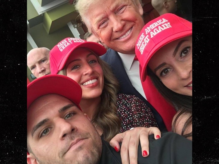 Trump crashes MAGA-themed wedding in Bedminster
