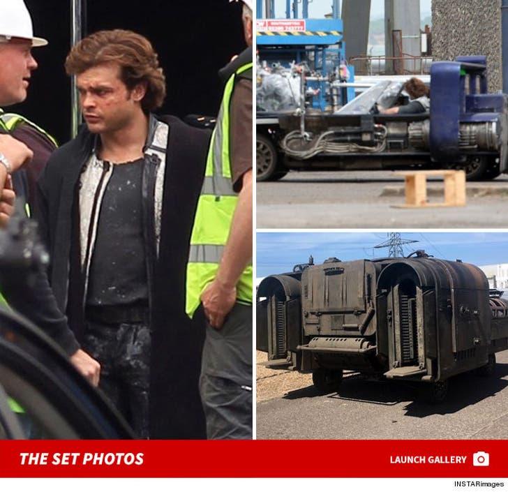 'Star Wars' Set -- Behind the Scenes