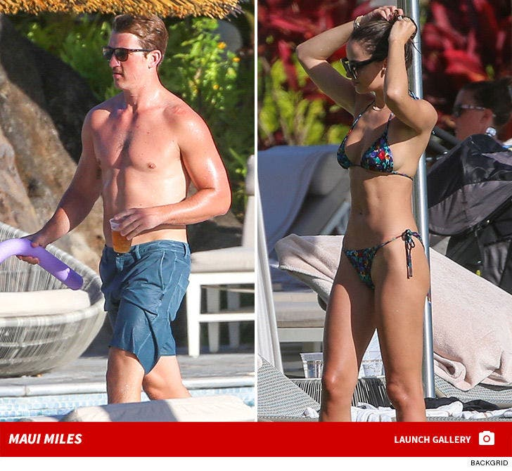 Miles Teller and Keleigh Sperry -- Hot Shots From Maui