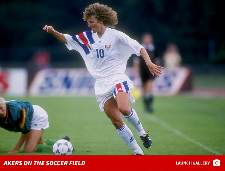 Michelle Akers on the Soccer Field