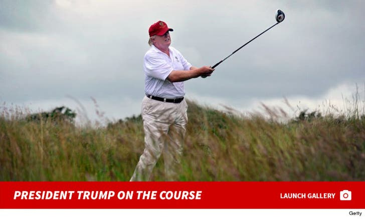 President Trump On the Course