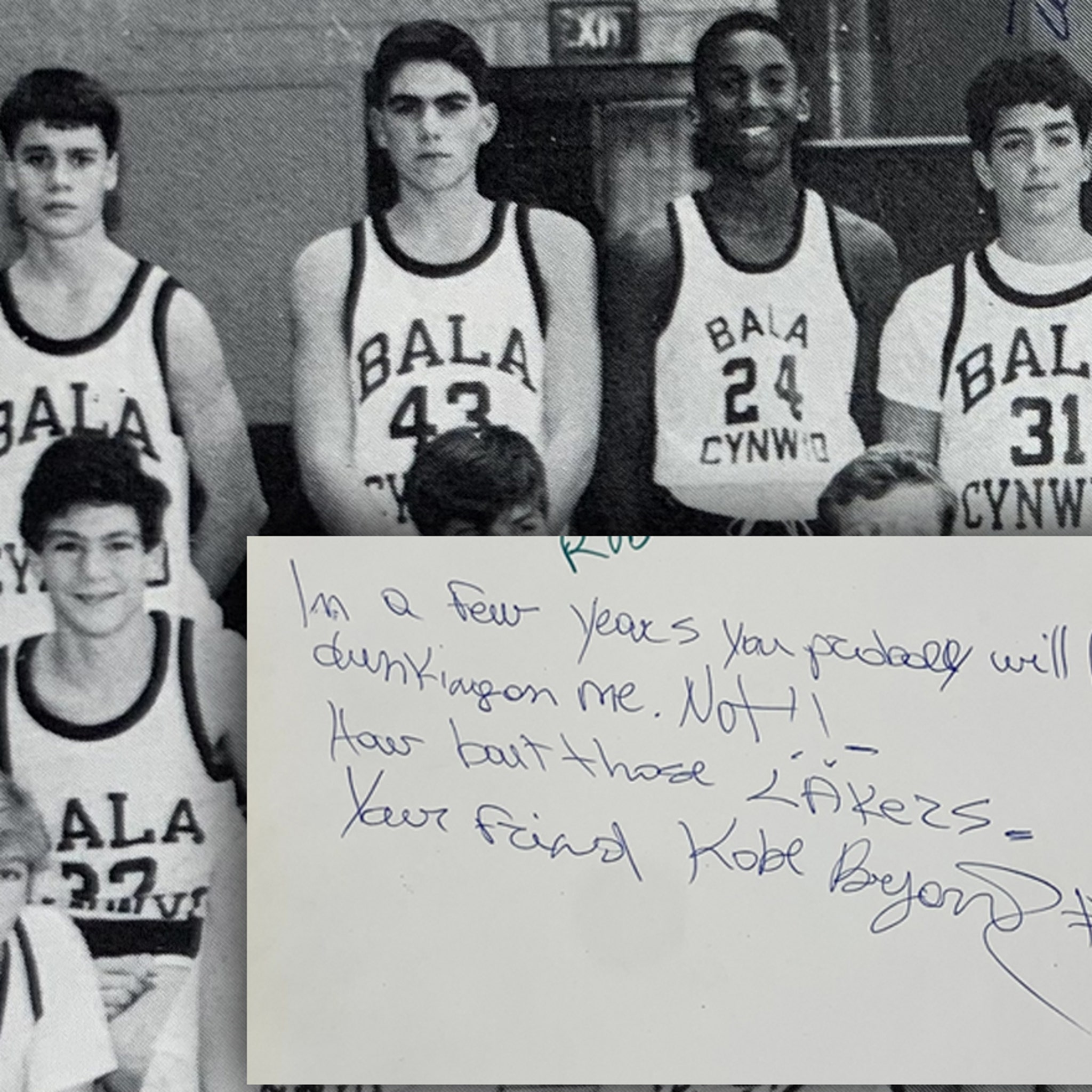 Kobe Bryant 8th Grade Yearbook Up For