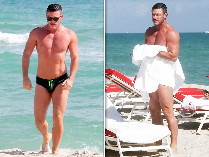 Luke Evans is the sexiest man on Miami Beach!