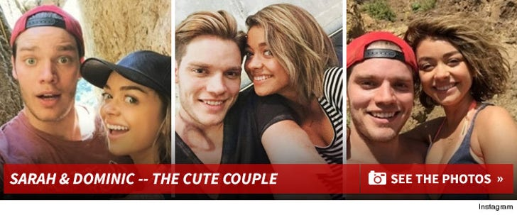Sarah Hyland and Dominic Sherwood -- The Cute Couple