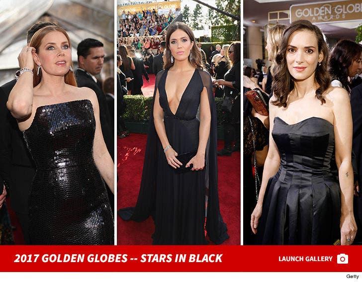 Golden Globes 2017 -- Stars in Black