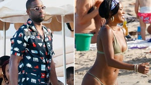 Gabrielle Union Rocks String Bikini In Ibiza with Dwyane Wade
