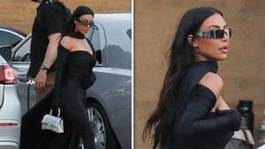 Kim Kardashian Dressed to the Nines for Friend's Malibu Bday Dinner