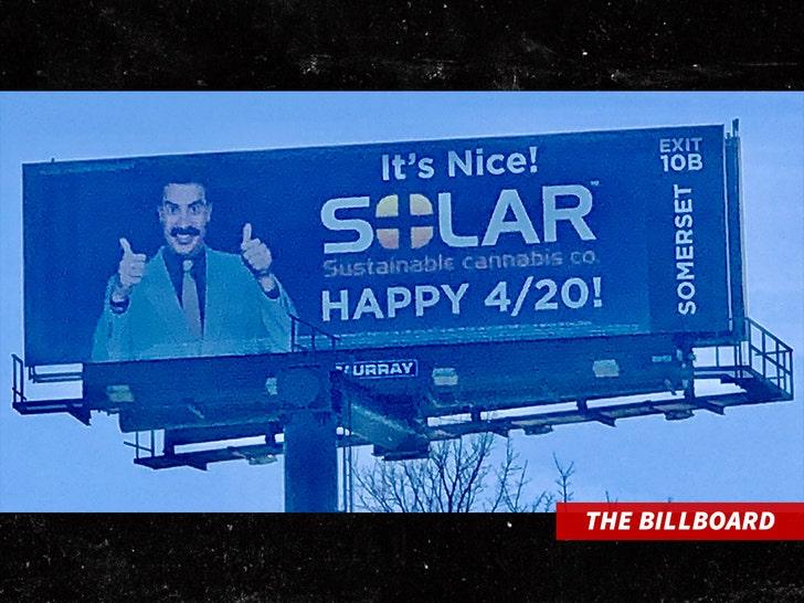 Sasha Baron Cohen billboard
