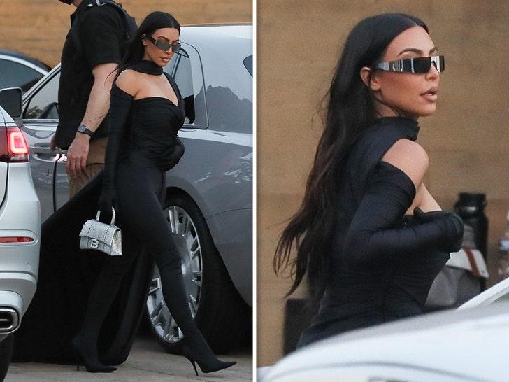 Kim Kardashian Looking Flashy for Nobu Dinner Night