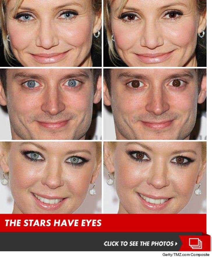 Celeb Eye Color Showdown -- Blue vs. Brown!