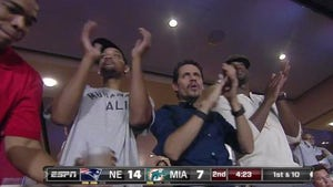 Will Smith and Marc Anthony -- Bro Out at Miami Dolphins Game