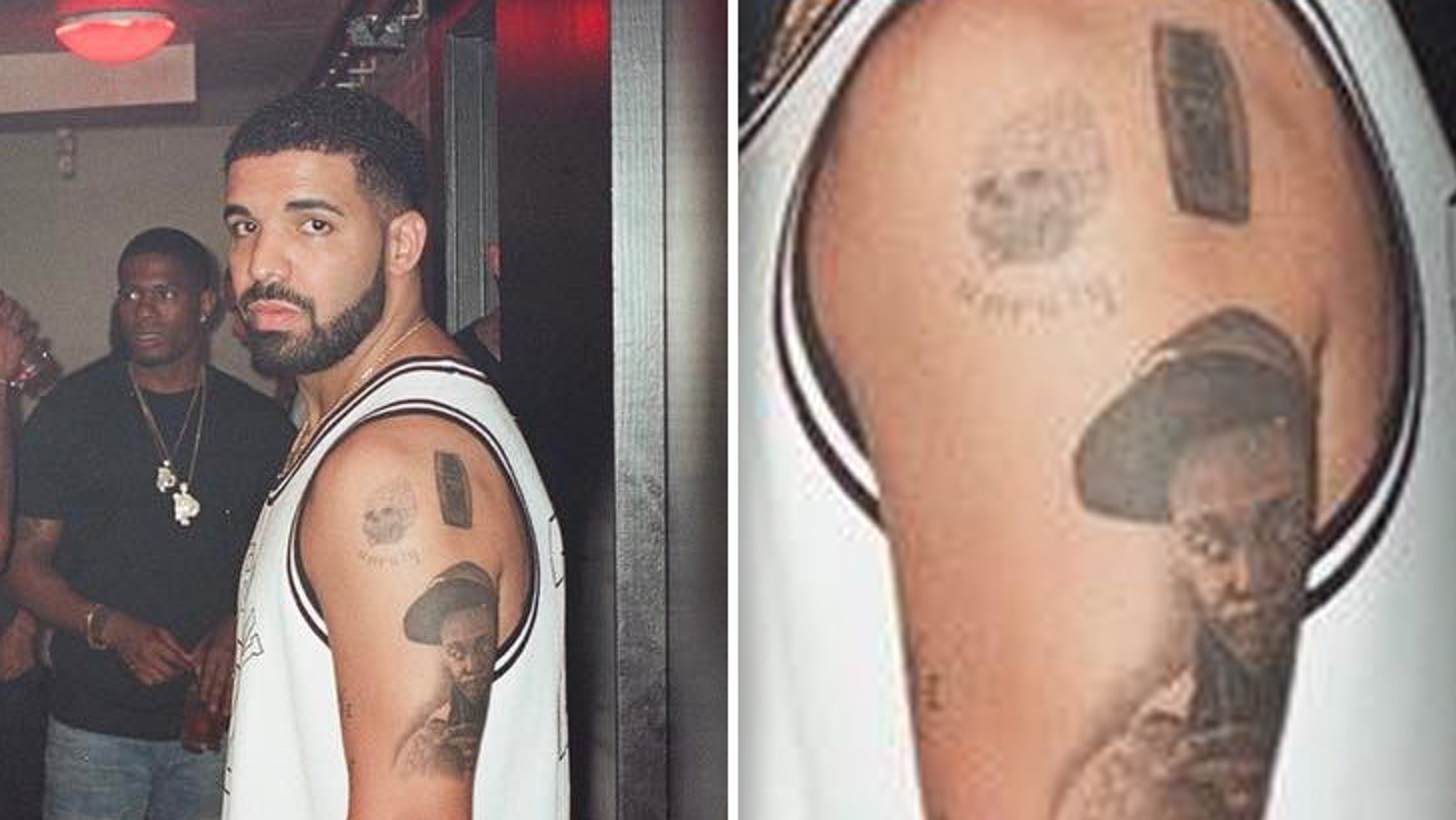 Drake Has Lil Wayne S Face Tattooed On His Arm
