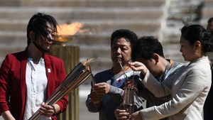 Olympic Torch Handover Ceremony Goes Down In Greece with No Fans