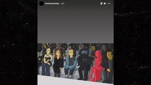 Kim Kardashian and Kanye West Turned Into 'Simpsons' For Balenciaga Show