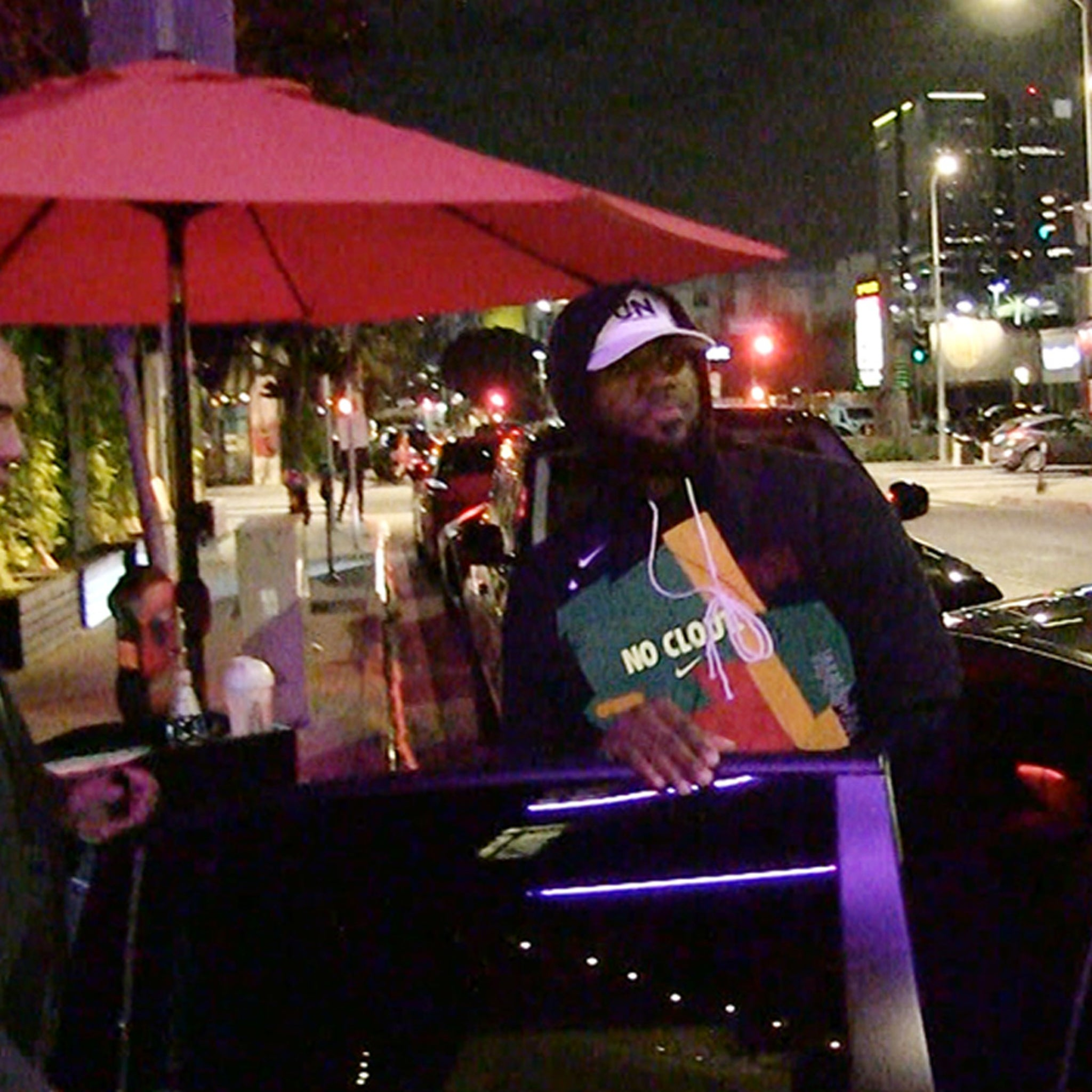 LeBron James Rocks 'No Clout' Shirt to Dinner After Lakers Game