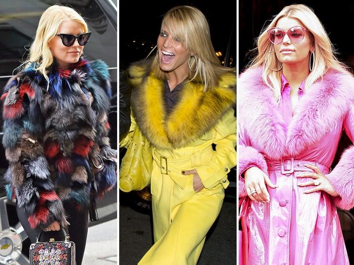 Jessica Simpson's Fur Fashion