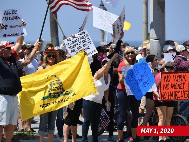 Huntington Beach Protest Photos