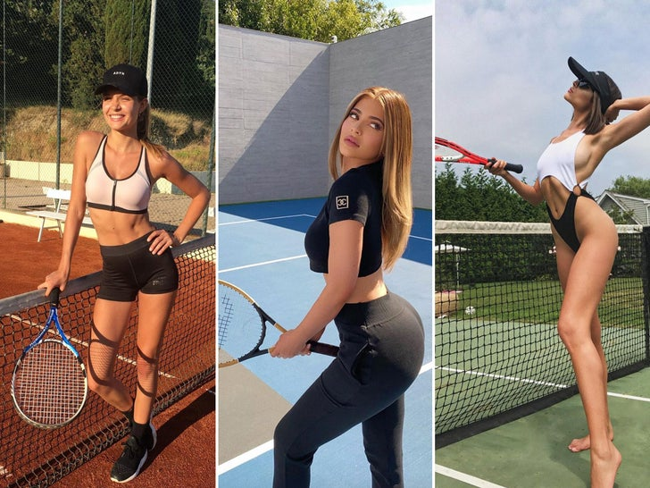 Tennis Babes Making A Racket -- Serving Looks!