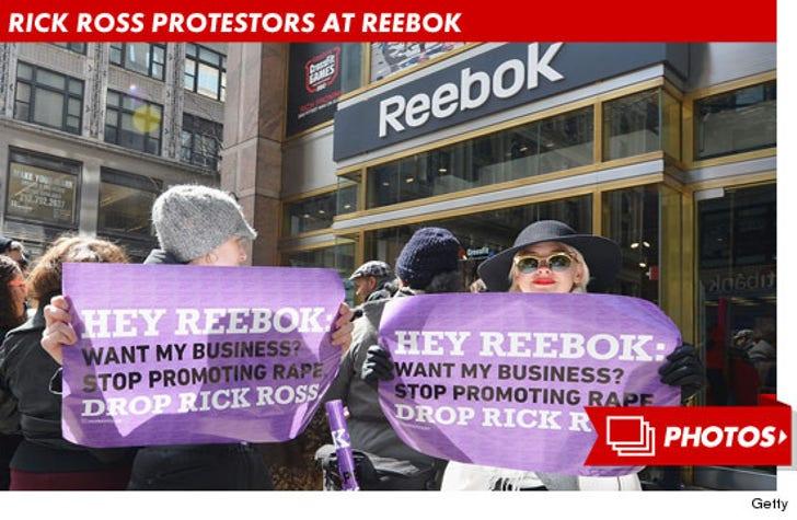 Rick Ross Protesters at Reebok