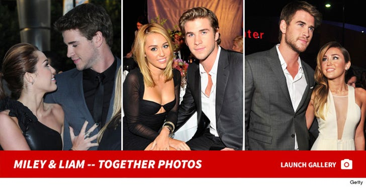 Miley Cyrus and Liam Hemsworth -- Together Photos
