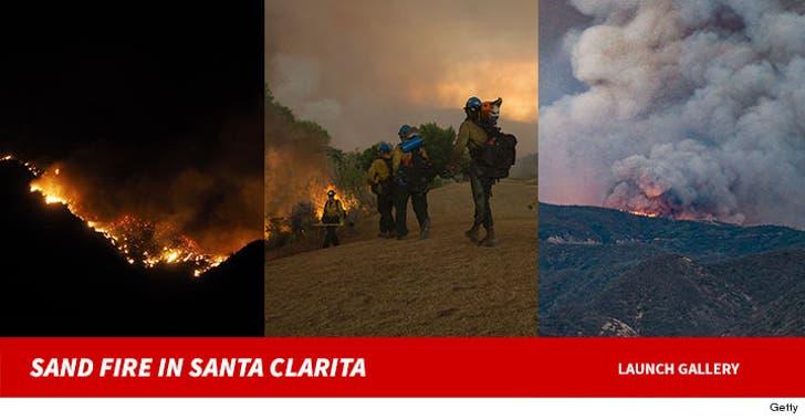 The Sand Fire In Santa Clarita