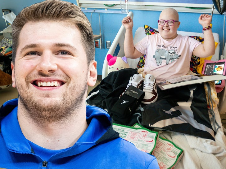 Luka Doncic Gifts Jordan Sneakers, Pizza To Children At Local Hospitals.jpg