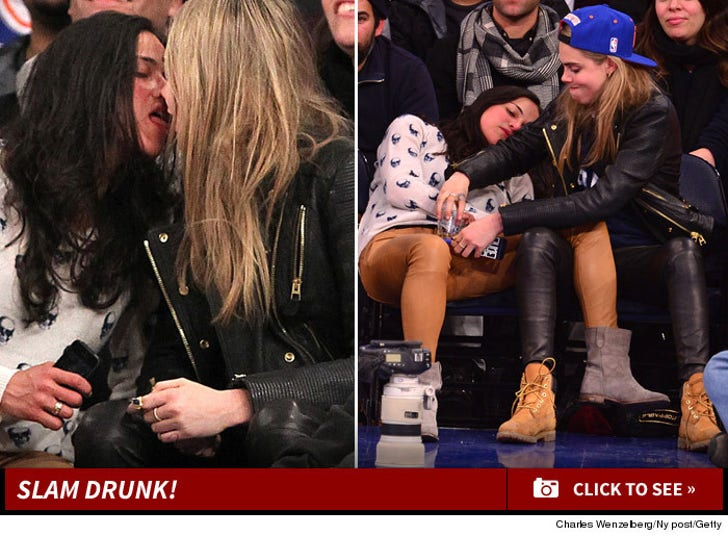 Michelle Rodriguez Courtside -- Slam Drunk!