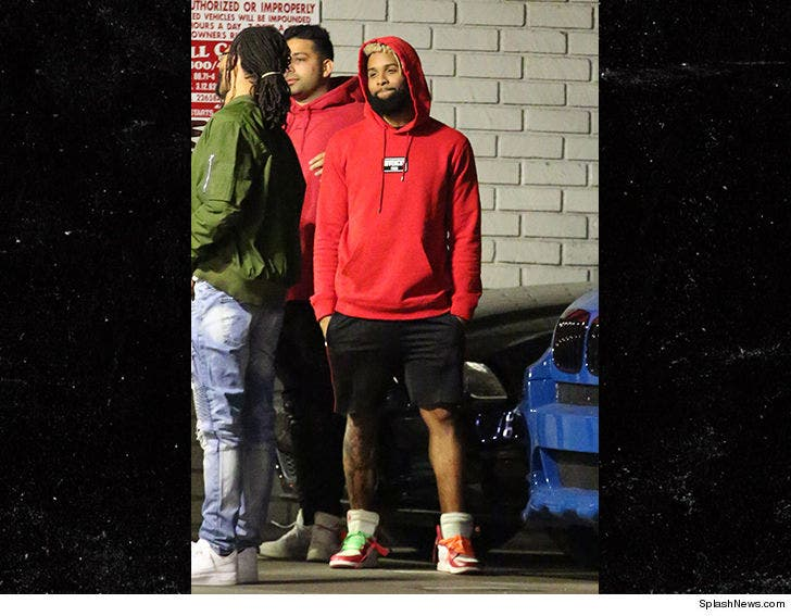 separation shoes 267e3 cfd92 Odell Beckham Hits L.A. Nightclub ... In Shorts