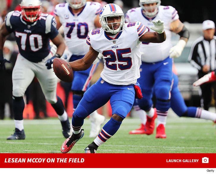 LeSean McCoy on the Field