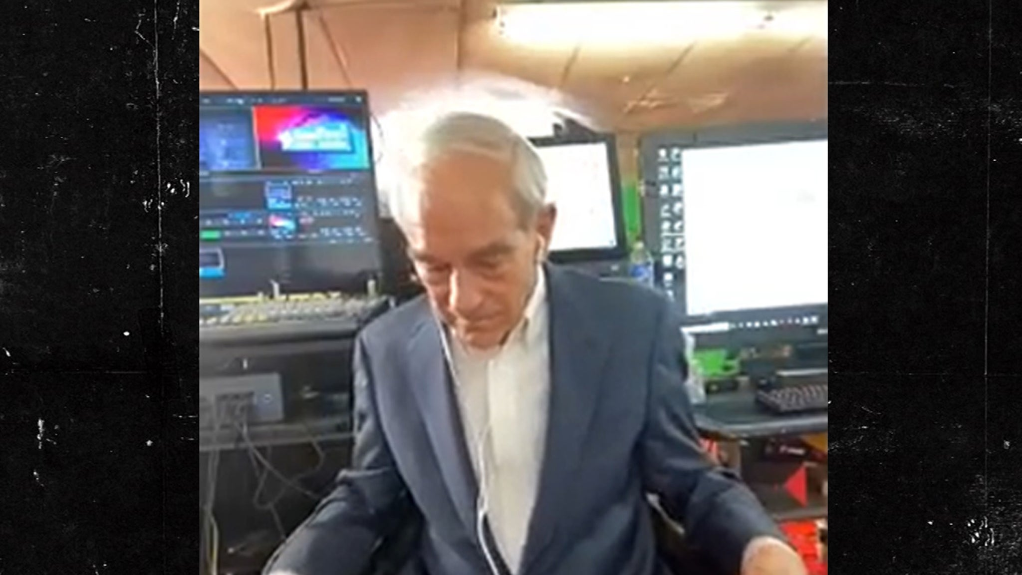 Ron Paul Wears Daisy Dukes with Suit Jacket for Interview thumbnail