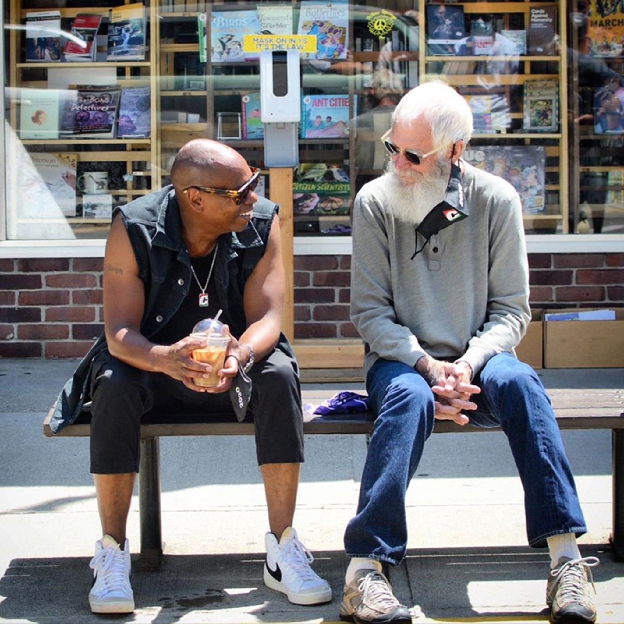 dave chappelle hanging with david letterman in his ohio hometown dave chappelle hanging with david