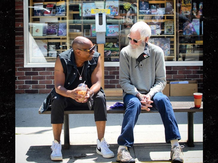 dave chappelle hanging with david letterman in his ohio hometown tmz com